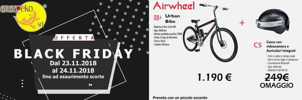 BLACK FRIDAY BICI ELETTRICA AIRWHEEL R8