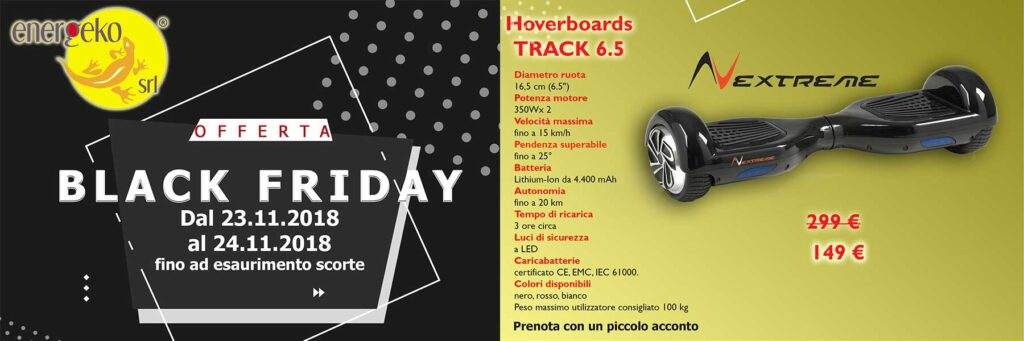 hoverboard elettrico black friday