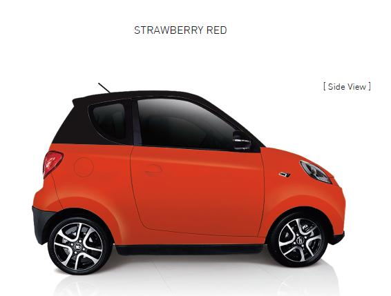 Auto Elettrica City Car ZD D2s red