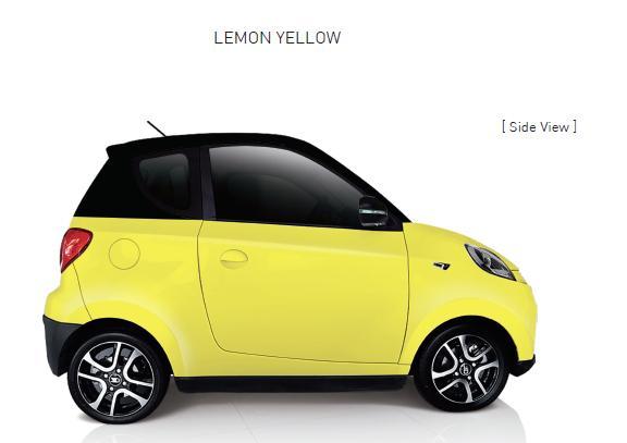 Auto Elettrica City Car ZD D2s lemon