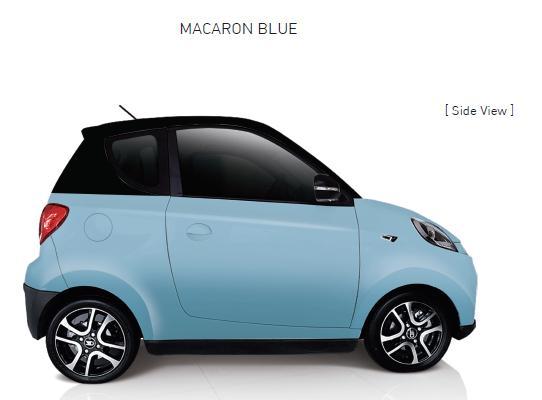 Auto Elettrica City Car ZD D2s blue