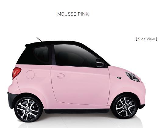 Auto Elettrica City Car ZD D2s pink
